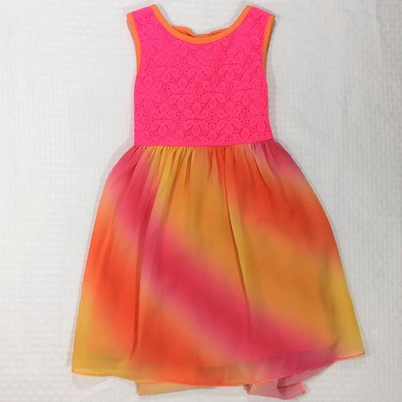 36e6b8d62b88 Youngland Dresses | Pink Orange Dress Colorful Flowy Bottom Size 6x ...